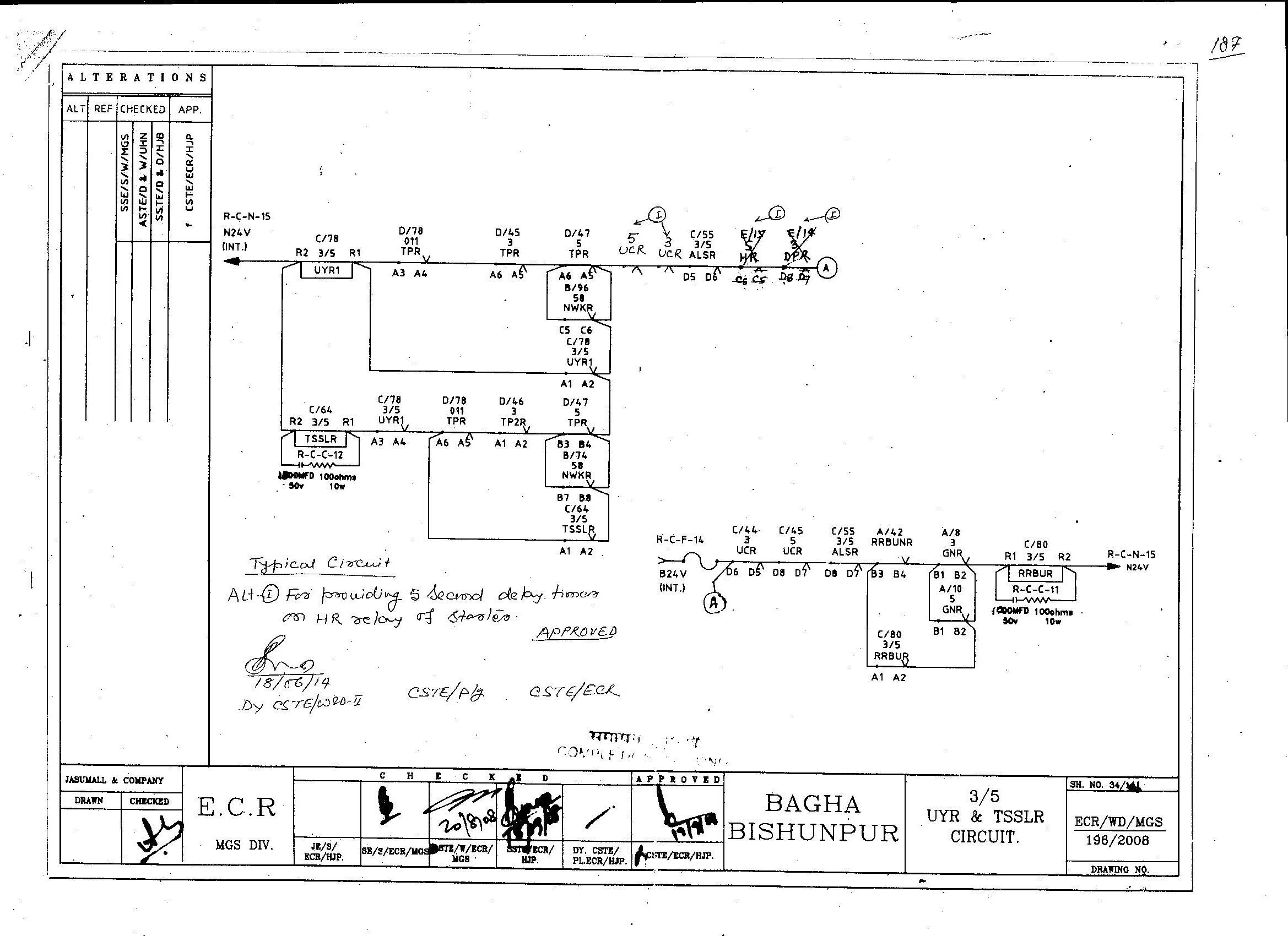 East Central Railways Indian Portal Circuit Diagram Year 6 For Providing 05 Seconds Delay Timer On Hr Relay Of Starter
