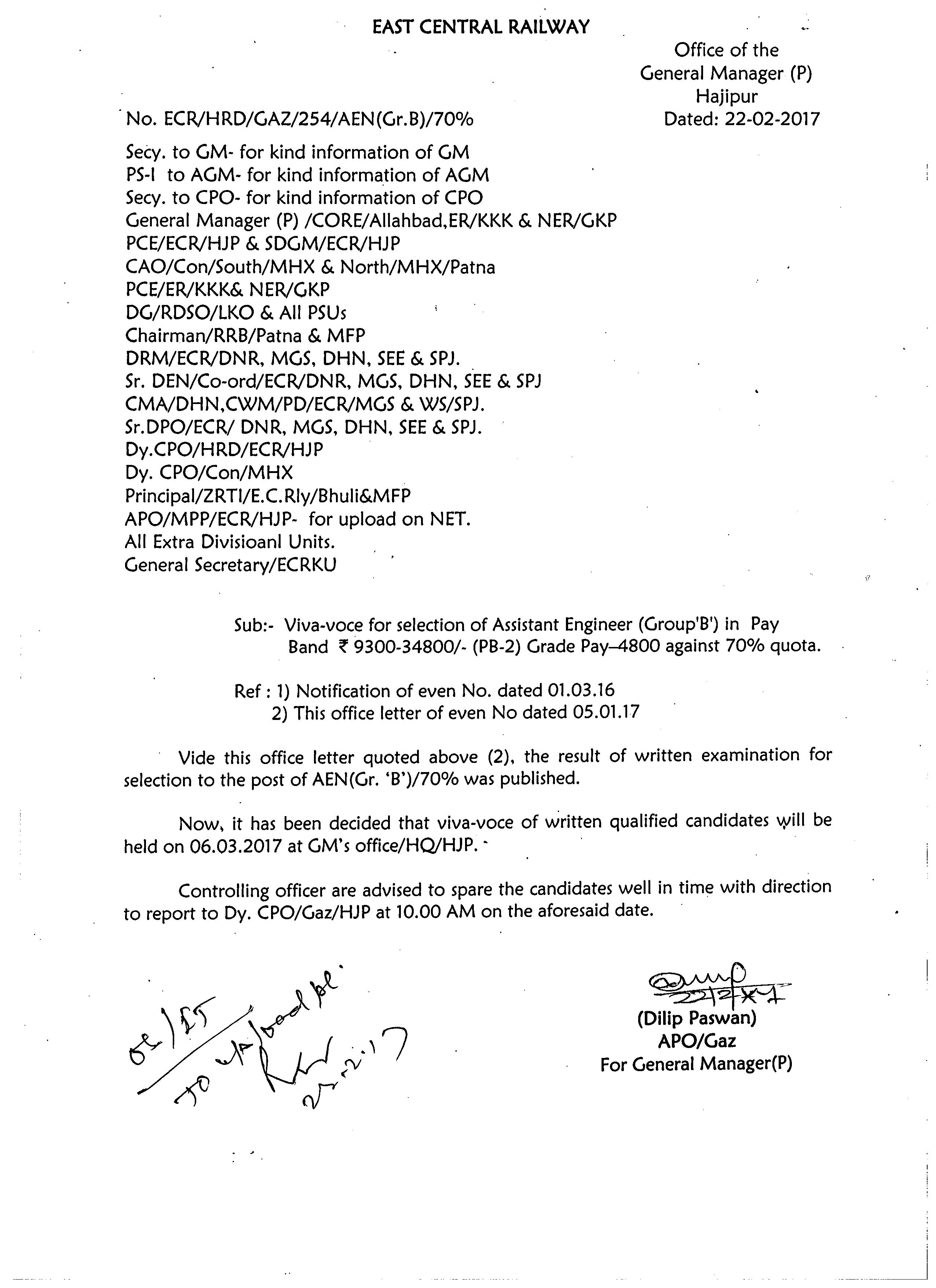 Deputation To Rites Formation For Panel Of Inspection Engineers In Civil  Mechaniacal, Electrical And M&c Discipline Dt 20022017