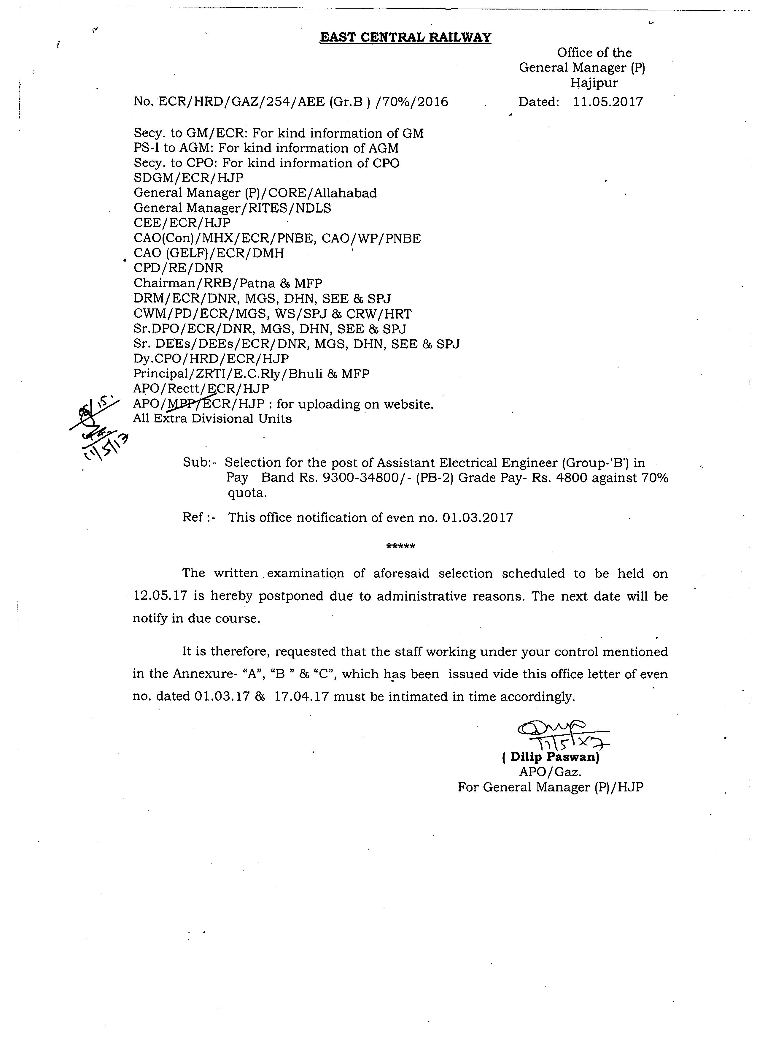 (pb2)grade Pay Rs 4800 Against 70% Quota Dt 11052017